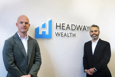 Headway Wealth founders Elliott Parkhouse and Hamzah Salchi